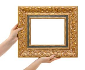 Frame in hands