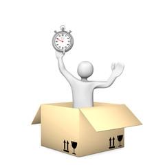 Manikin Parcel Stopwatch
