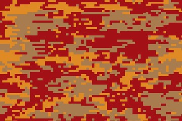 Illustration of a Digital camouflage pattern