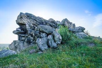 Teufelsmauer im Harz, felsiger Gesteinsvorsprung