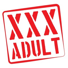 Stamp Illustration on White Background of  the word XXX