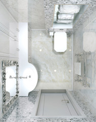 Classic interior toilet
