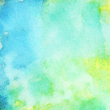 Fototapety Abstract painted watercolor background