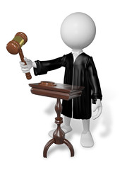 man with gavel