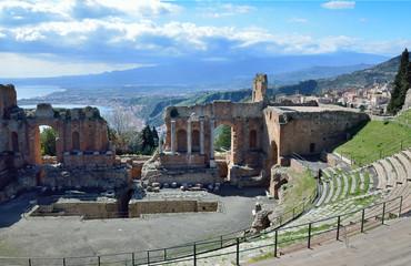 Ancient ruins on the Sicilian coast