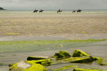 Reiter am Strand in Irland