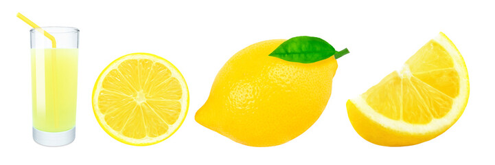 lemon juice and lemon slices