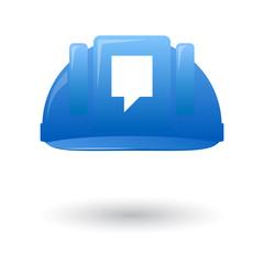 Blue work helmet with a tooltyp