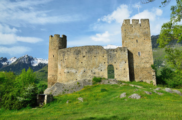 Ruins of the French medieval fort Sainte-Marie