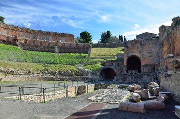 Greek theater in the ancient town Taormina