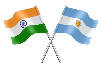 Flags: India and Argentina