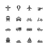 Fototapety Transportation icons