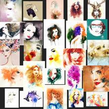 portrait de femme. aquarelle abstraite. mode arrière-plan