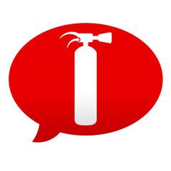 Etiqueta tipo app roja comentario simbolo extintor