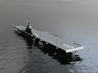 Aircraft carrier - 3D render