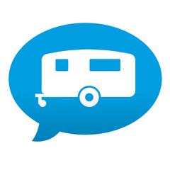 Etiqueta tipo app azul comentario simbolo caravana