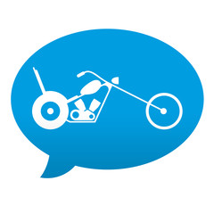 Etiqueta tipo app azul comentario simbolo chopper
