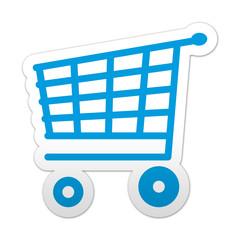 Pegatina simbolo carro de la compra