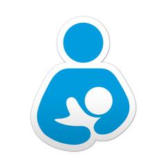 Pegatina simbolo lactancia