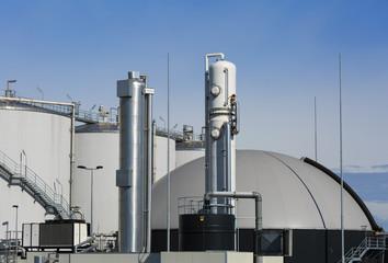 Modern biogas plant