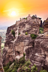 Monastery at Meteora in Trikala, Greece.