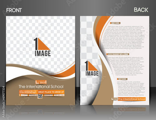 The International School Front & Back Flyer Template
