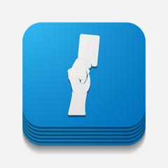 square button: card