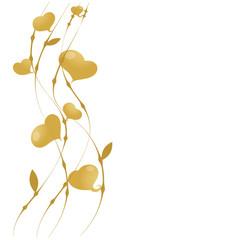 background golden hearts golden jubilee anniversary