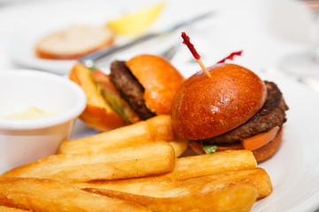 Sliders and French Fries