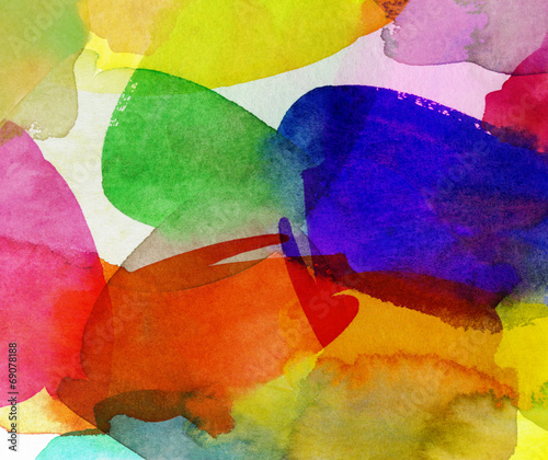 canvas print picture aquarell bunt sommerfarben