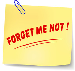 Vector forget me not message illustration