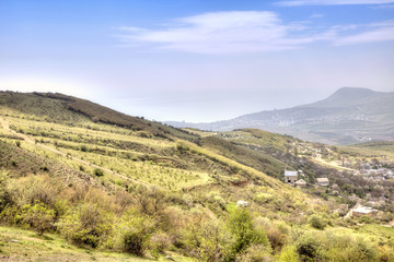 Landscape of Crimea, view from a mountain Demerdzhi