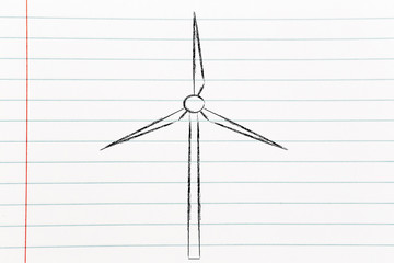renewable energy: wind park turbines
