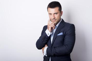 Portrait of handsome man in suit