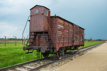 Holocaust Death Camp cattle car train