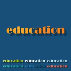 Flat design: education