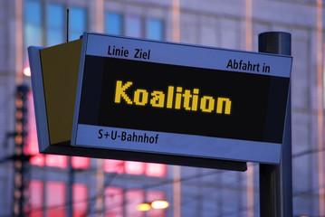 Anzeigetafel 1 - Koalition