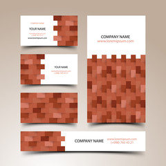 Construction business card set