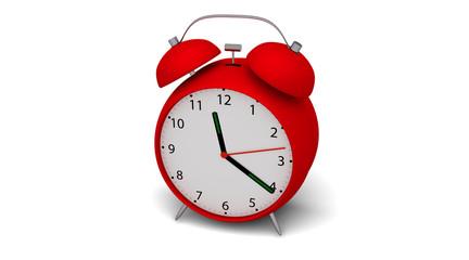 Relógio Despertador 3D Vermelho