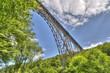 canvas print picture - Bogenbrücke aus Stahl