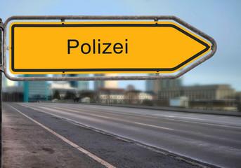 Strassenschild 14 - Polizei
