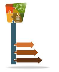 illustration of Key infograph