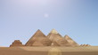 Animation of pyramids from dusk till dawn