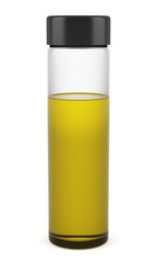 transparent shampoo bottle isolated on white background