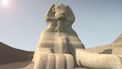Animation of the sphinx in Egypt