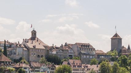 Murten, Altstadt, historisches Schloss, Rathaus, Schweiz