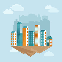 Vector city concept in flat style