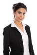 Schöne indische Frau: Bewerbungsfoto isoliert