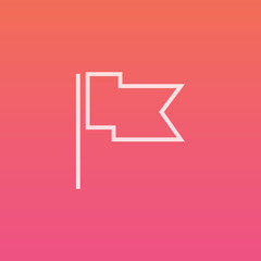 Flag / Report - Finely crafted line icons