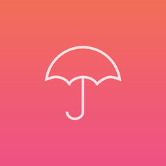 Umbrella - Finely crafted line icons